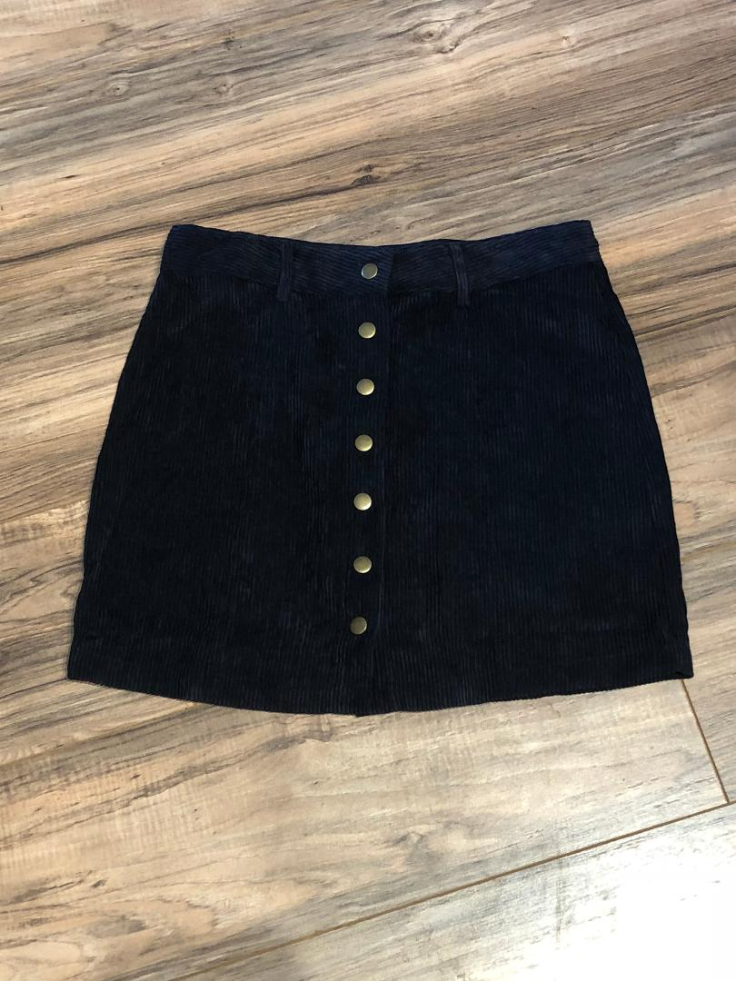 Can't Get You Out Of My Head Skirt - Navy