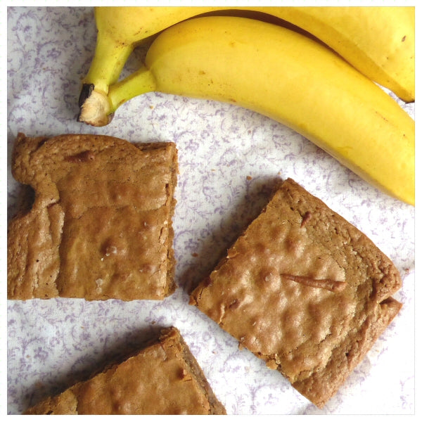 Banana Blondies (Box of 4 or 9) - Clare's Squares - order blondies online with free delivery to your door