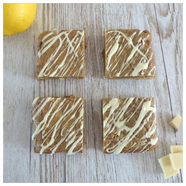 Lemon and White Chocolate Blondies (Box of 4 or 9) - Clare's Squares - order Blondies online with free delivery to your door