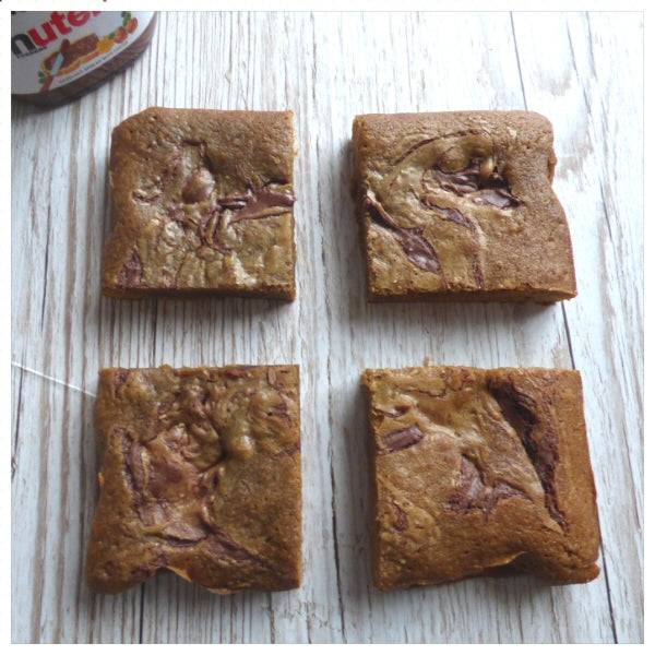 Nutella Blondies (Box of 4 or 9) - Clare's Squares - order blondies online with free delivery to your door