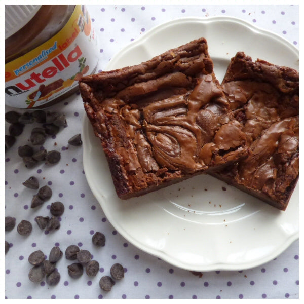 Nutella Brownies (Box of 4 or 9) - Clare's Squares - order brownies online with free delivery to your door