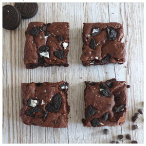 Oreo Brownies (Box of 4 or 9) - Clare's Squares - order brownies online with free delivery to your door