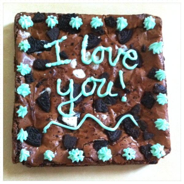 Big Celebratory Brownie - Clare's Squares - order brownies online with free delivery to your door