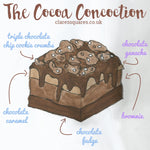 Cocoa Concoction Traybake Cake - Clare's Squares - order  online with free delivery to your door