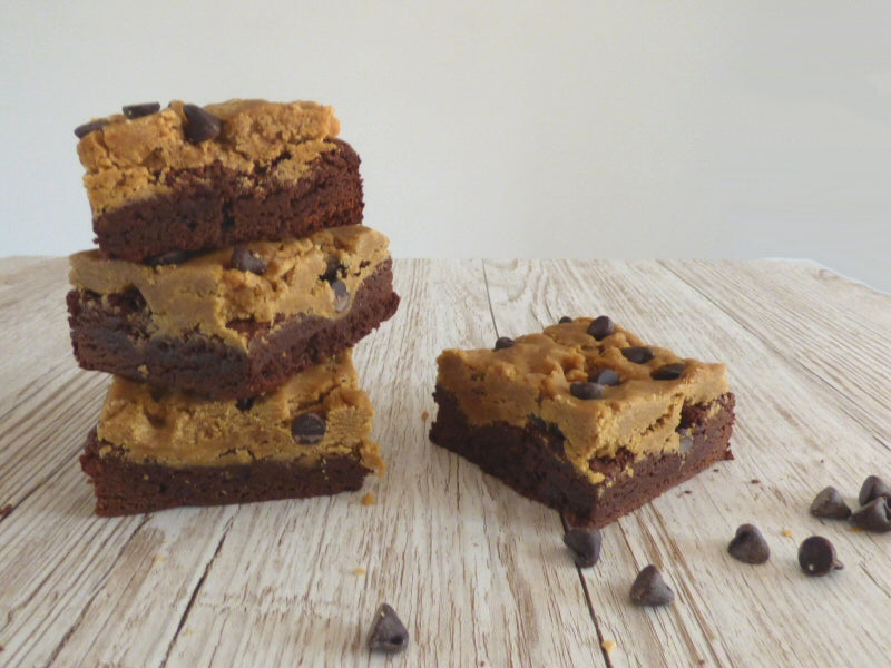 Cookie Dough Brownies (Box of 4 or 9) - Clare's Squares - order brownies online with free delivery to your door