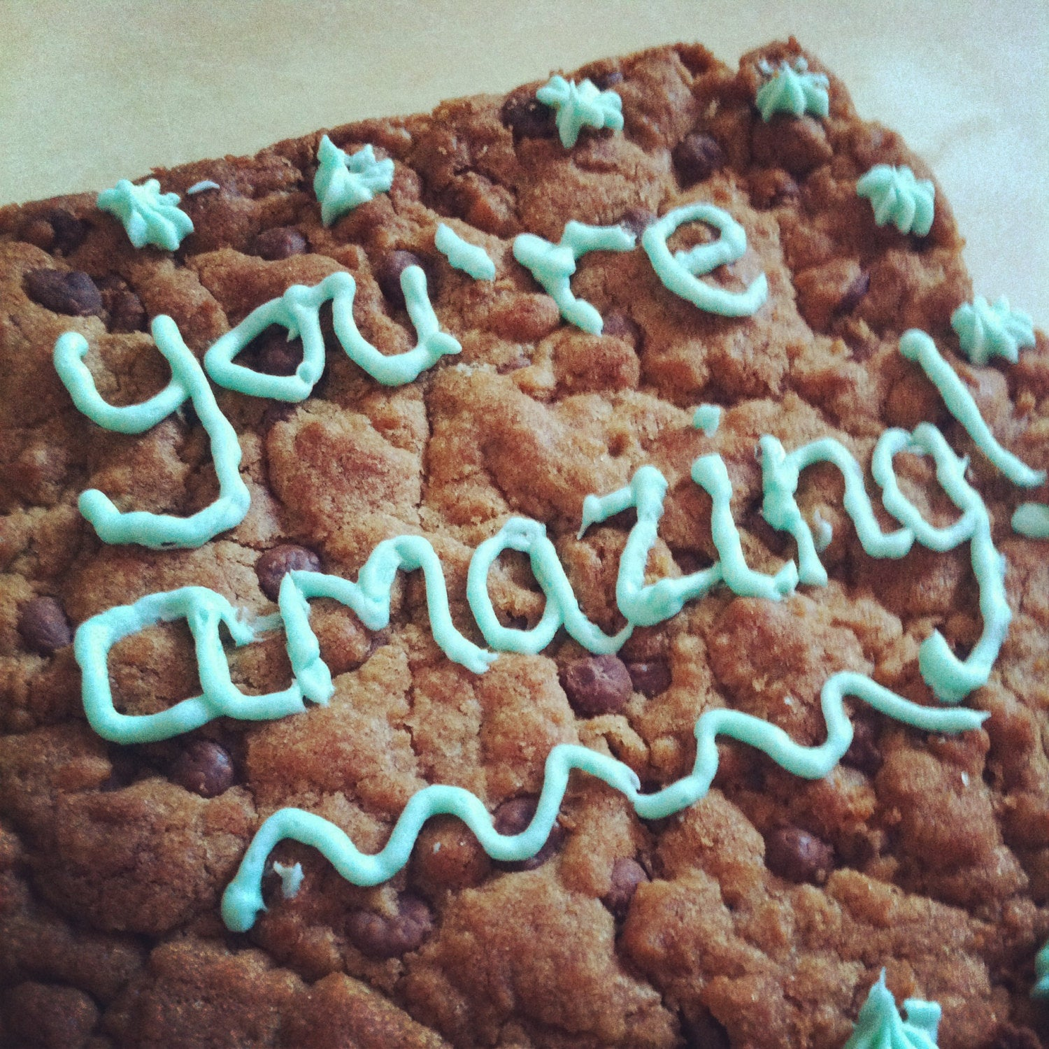 Big Celebratory Cookie - Clare's Squares - order cookies online with free delivery to your door