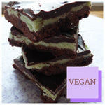 Mint Chocolate Shortbread (Box of 4 or 9) - Clare's Squares - order Traybakes online with free delivery to your door