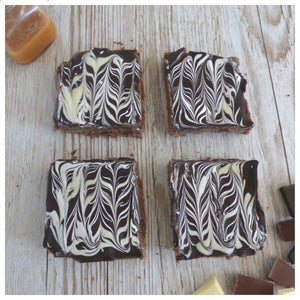 Triple Chocolate Caramel Shortbread (Box of 4 or 9) - Clare's Squares - order Traybakes online with free delivery to your door