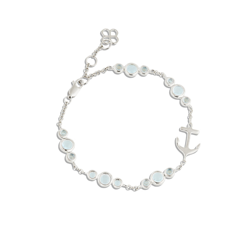 CLEMENT TRINITY BRACELET WITH BLUE TOPAZ