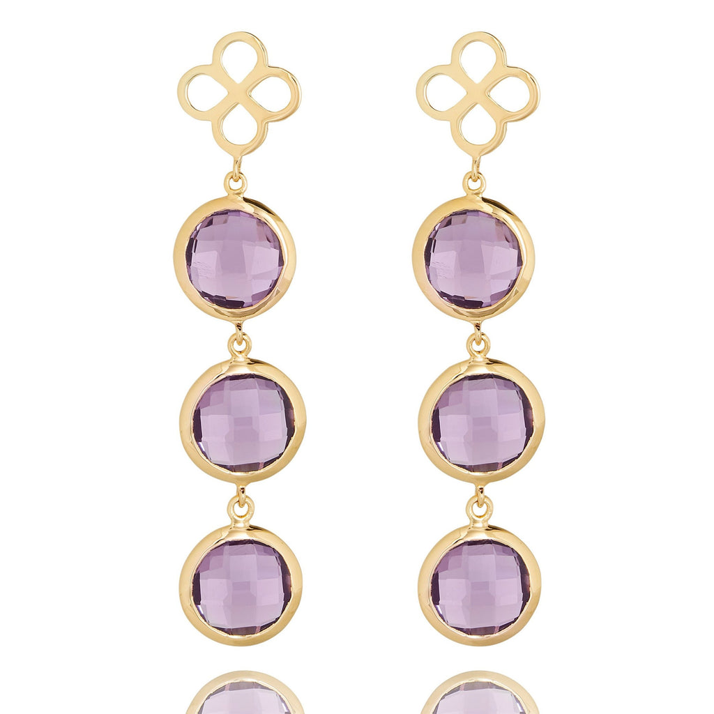 BENISON COCKTAIL EARRINGS WITH AMETHYST