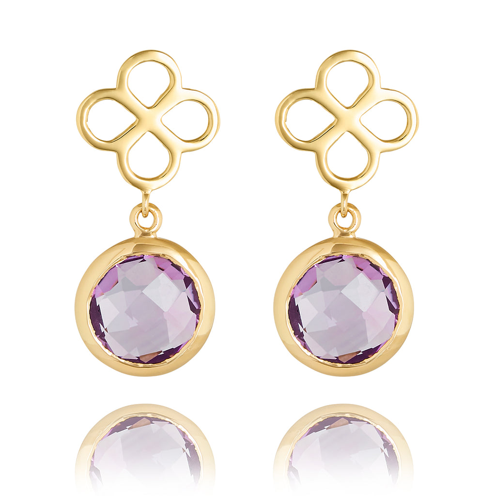 BENISON DROP EARRINGS WITH AMETHYST
