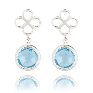 BENISON DROP EARRINGS WITH BLUE TOPAZ