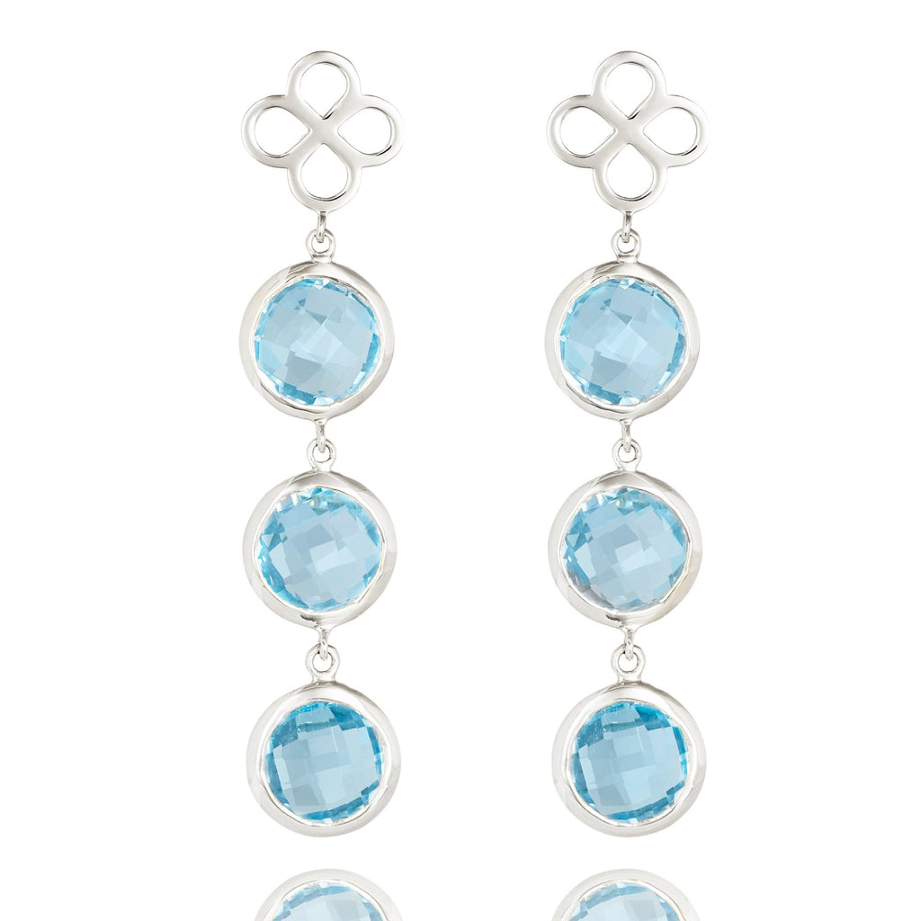 BENISON COCKTAIL EARRINGS WITH BLUE TOPAZ