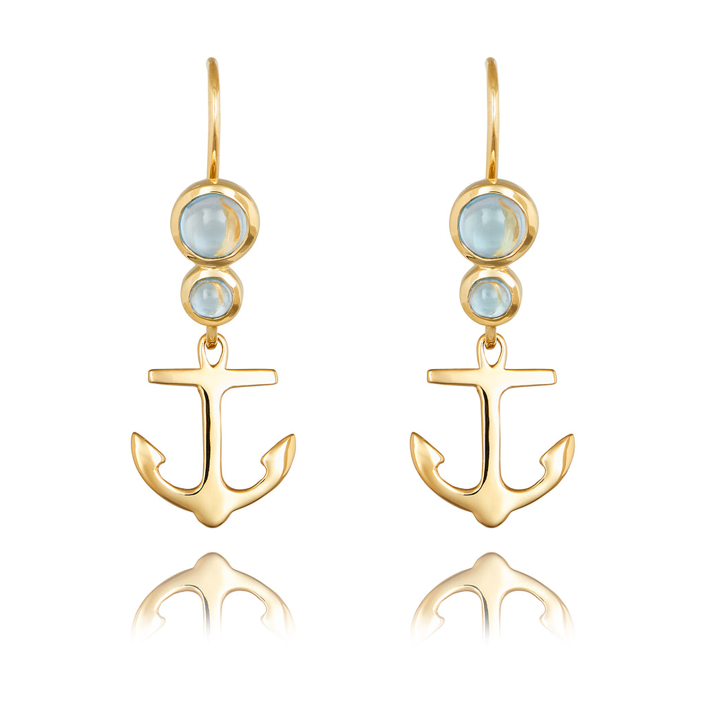 CLEMENT DROP EARRING WITH BLUE TOPAZ