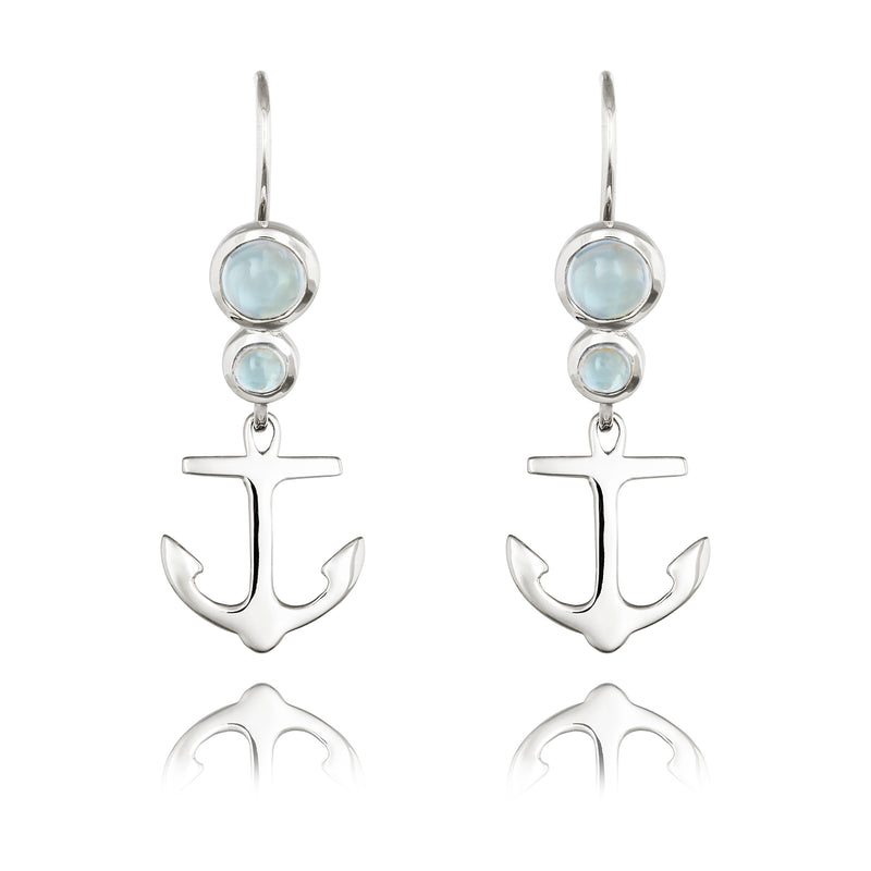 CLEMENT DROP EARRINGS WITH BLUE TOPAZ