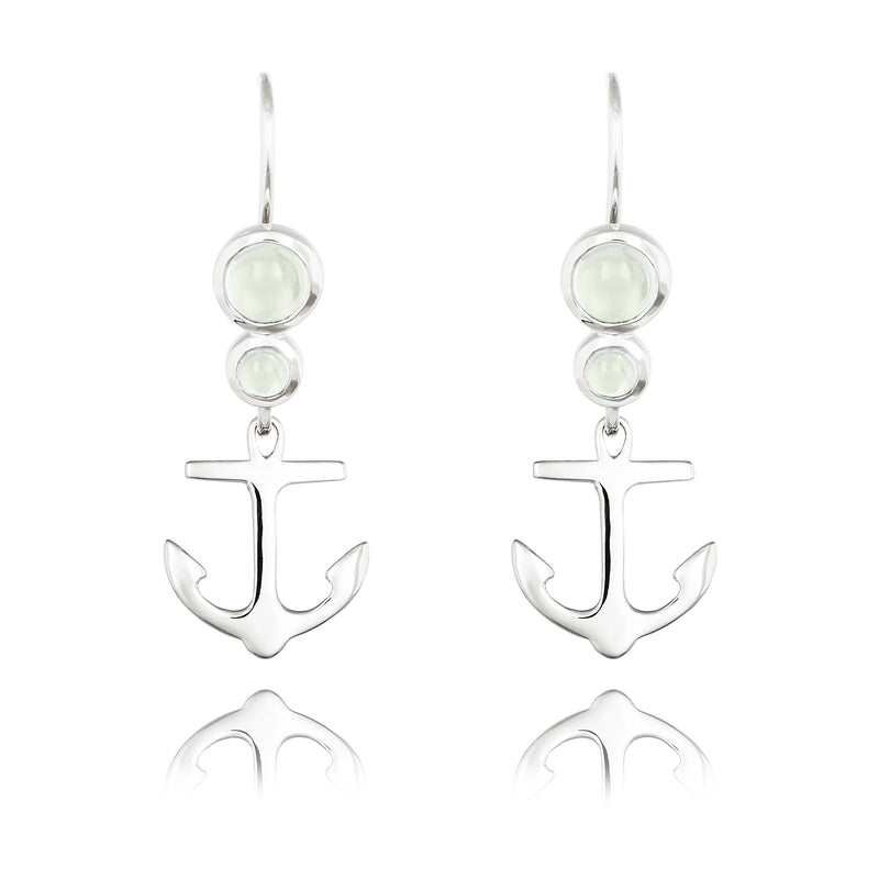 CLEMENT DROP EARRING WITH GREEN AMETHYST