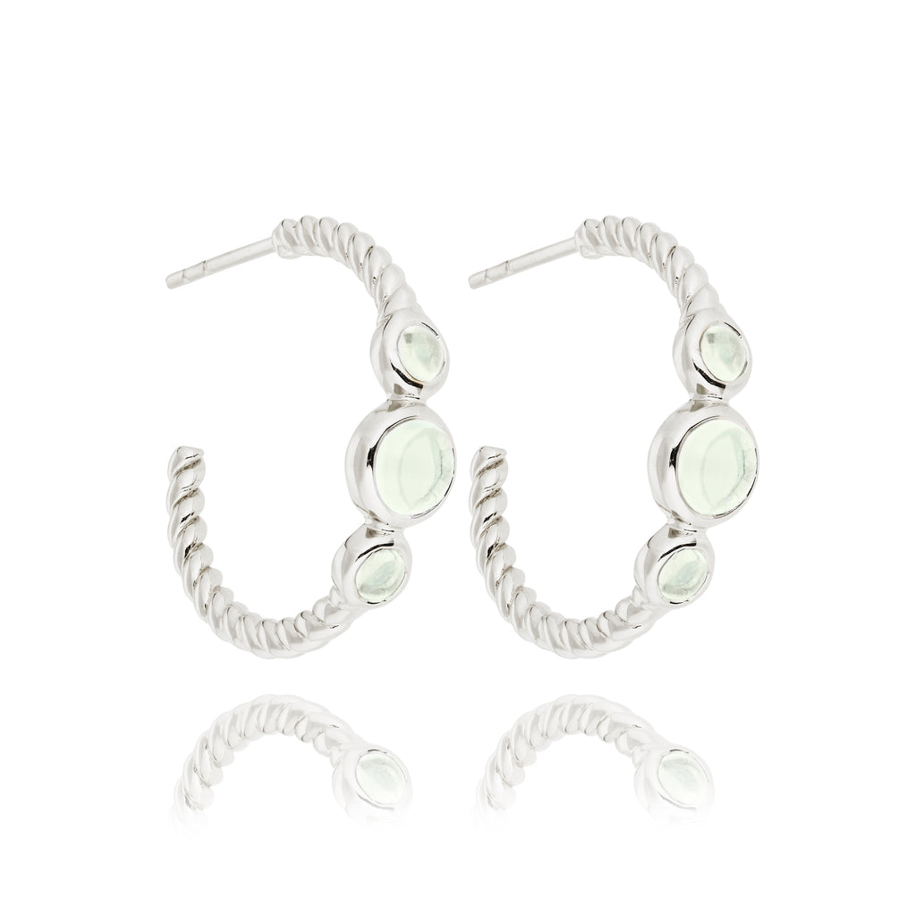 CLEMENT HOOPS WITH GREEN AMETHYST