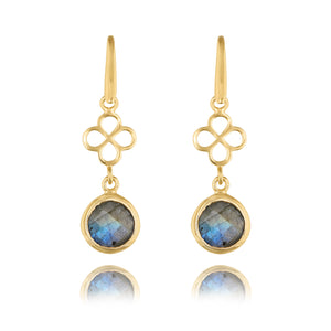 BENISON MINI DROP EARRING WITH LABRADORITE