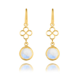 BENISON MINI DROP EARRINGS WITH MOONSTONE
