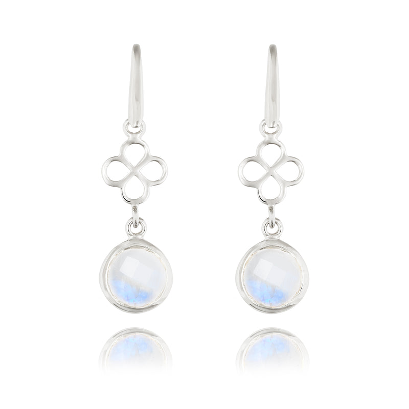 BENISON MINI DROP EARRING WITH MOONSTONE