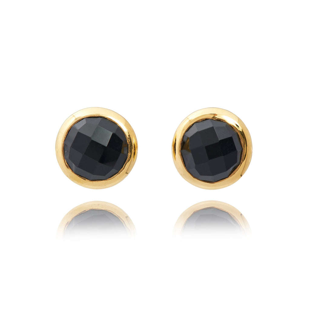 MACARON STUD EARRINGS IN LIQUORICE