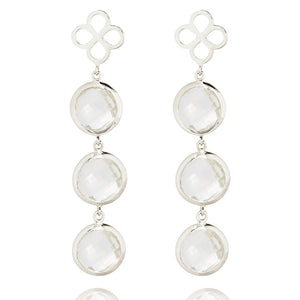 BENISON COCKTAIL EARRINGS WITH ROCK CRYSTAL
