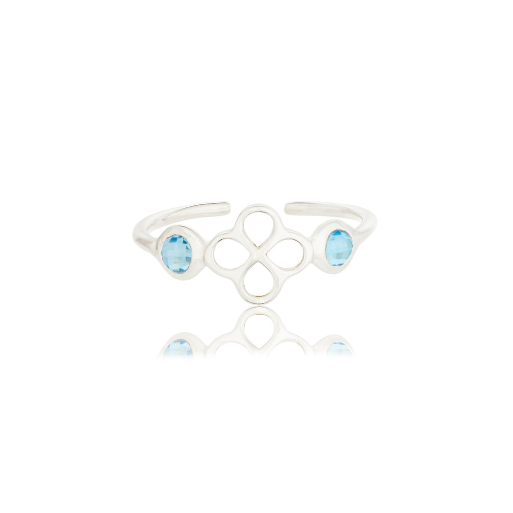 BENISON RING WITH BLUE TOPAZ