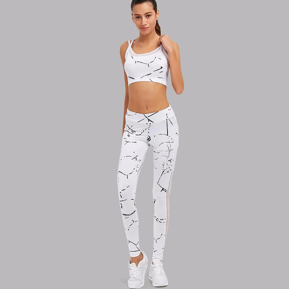 4a4cf517cdf4b SEXY MARBLE WHITE MESH TWO PIECES FITNESS SET - Hydra Leggings