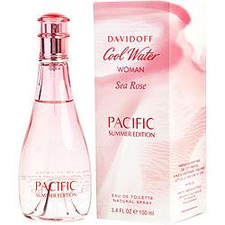 Cool Water Sea Rose Pacific Summer By Davidoff Edt Spray 3.4 Oz (limited Edition)