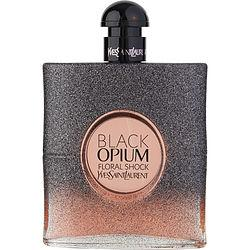 Black Opium Floral Shock By Yves Saint Laurent Eau De Parfum Spray 3 Oz *tester