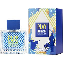 Play In Blue Seduction By Antonio Banderas Edt Spray 3.4 Oz