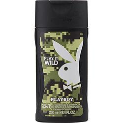 Playboy Play It Wild By Playboy Shower Gel & Shampoo 8.4 Oz