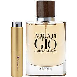 Acqua Di Gio Absolu By Giorgio Armani Eau De Parfum Spray .27 Oz (travel Spray)