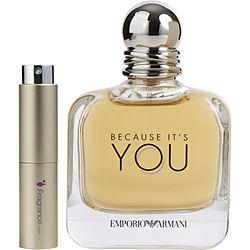 Emporio Armani Because It's You By Giorgio Armani Eau De Parfum Spray .27 Oz (travel Spray)