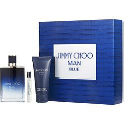Jimmy Choo Blue By Jimmy Choo Edt Spray 3.3 Oz & Aftershave Balm 3.3 Oz & Edt Spray .25 Oz Mini