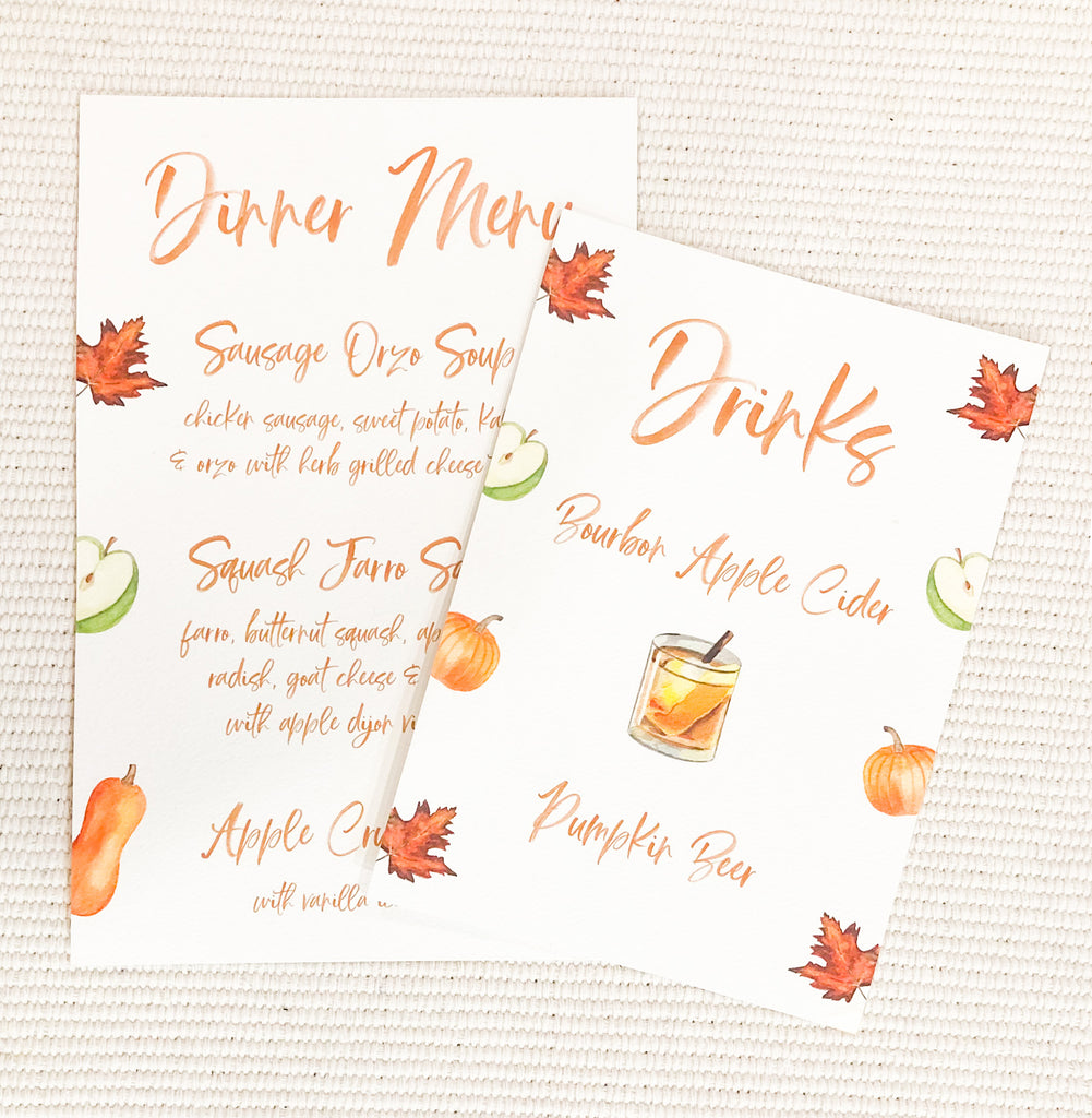 Fall Dinner Party Menus