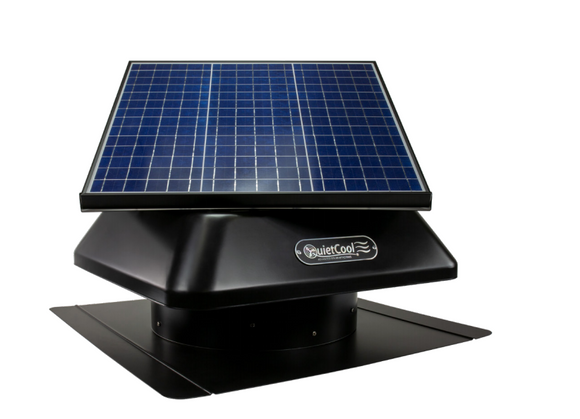40W Solar Attic Roof Mount Fan--Hybrid