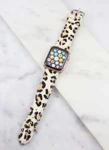 Animal Print white Watch Band Leopard