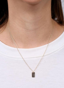 Benny Rectangle Charm Necklace