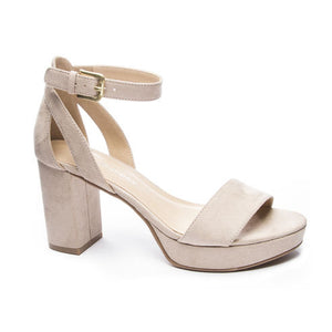 Chinese Laundry Suede Nude Heel