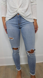 Karlie Cropped Distressed Jean