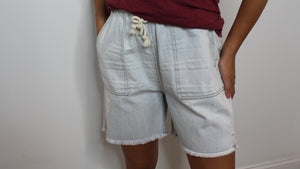 Light Denim Cargo Shorts