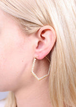 Adele Hexagon Bead Wrapped Hoop Earring