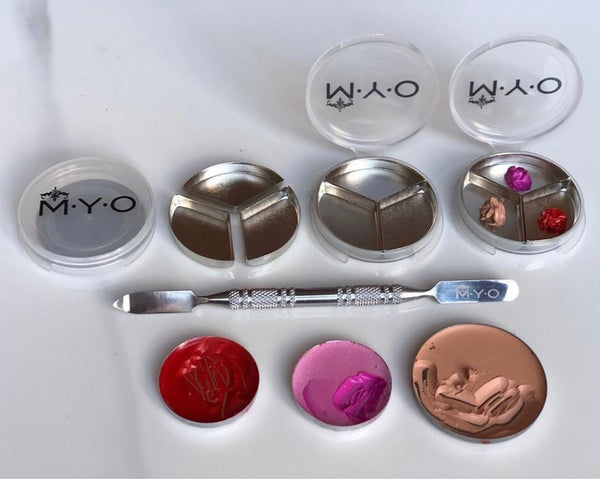 M·Y·O (Large) Makeup Pod with 3 Pan Inserts (x 2)