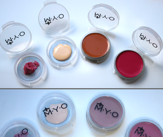 M·Y·O Makeup/Beauty Pods: Small Transparent, sets of 6
