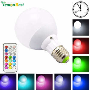 RGB LED Light Bulb w/ Remote Control Timing Function
