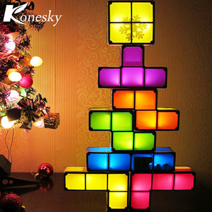 Building Block Tetris Night Light
