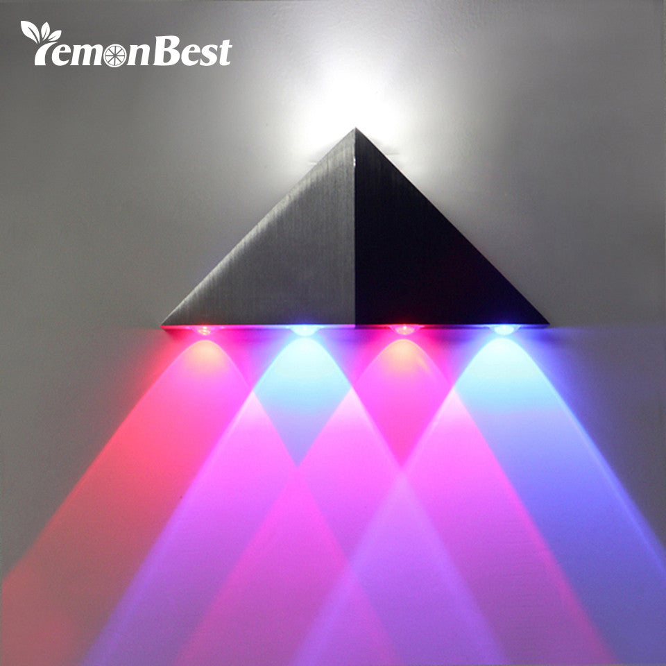 Aluminum Triangle Colored LED Wall Lamp