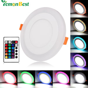 Slim Dual Color LED Circle Light Panel