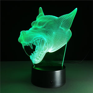 3D Dog RGB LED Night Light